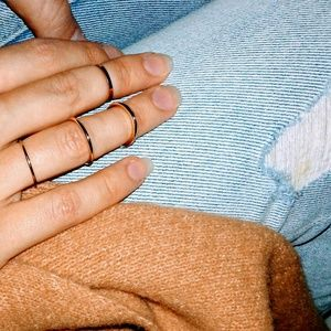 Jewelry - 5 for $25 Minimalist Ring | Silver, Rose, Gold